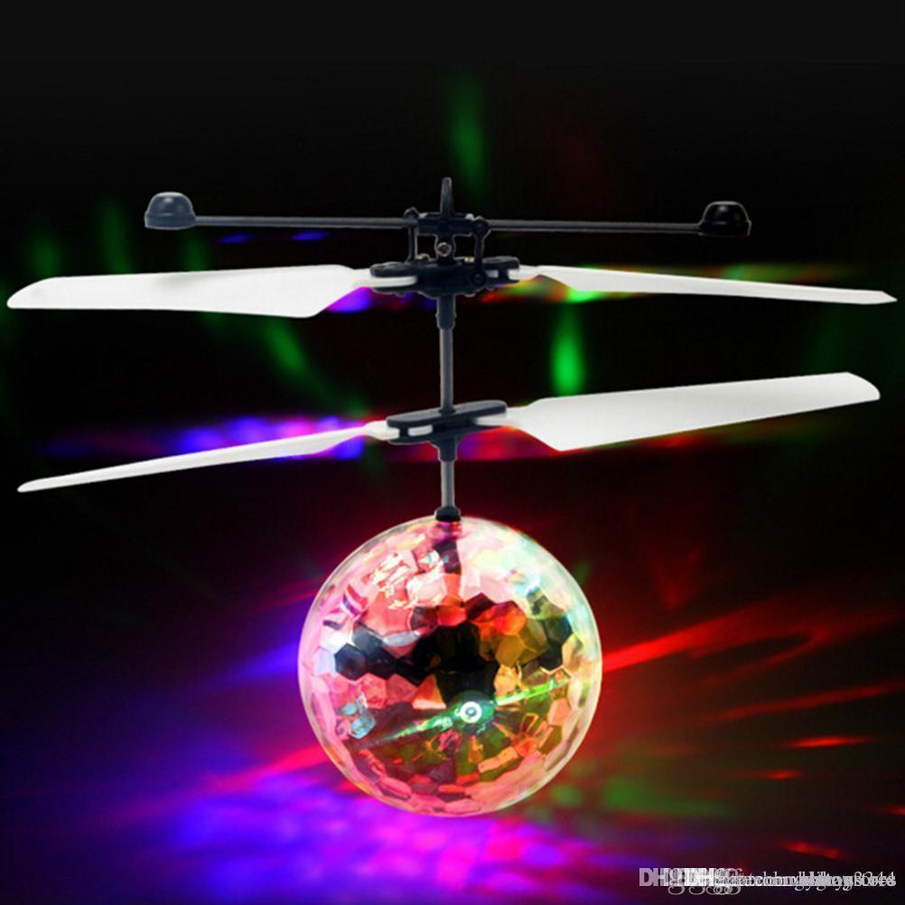 Flying RC Ball Aircraft Helicopter Led Flashing Light Up Toy Induction Toy Electric Toy Drone For Kids Children