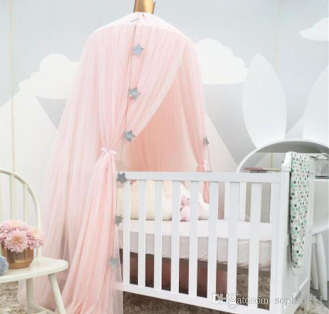 Baby Bedding Crib Netting Strong-Willed Kids Room Bedding Round Bed Mosquito Net Bed Cover Hung Dome Bed Canopy Kids Bedding Decoration Baby Room Accessories