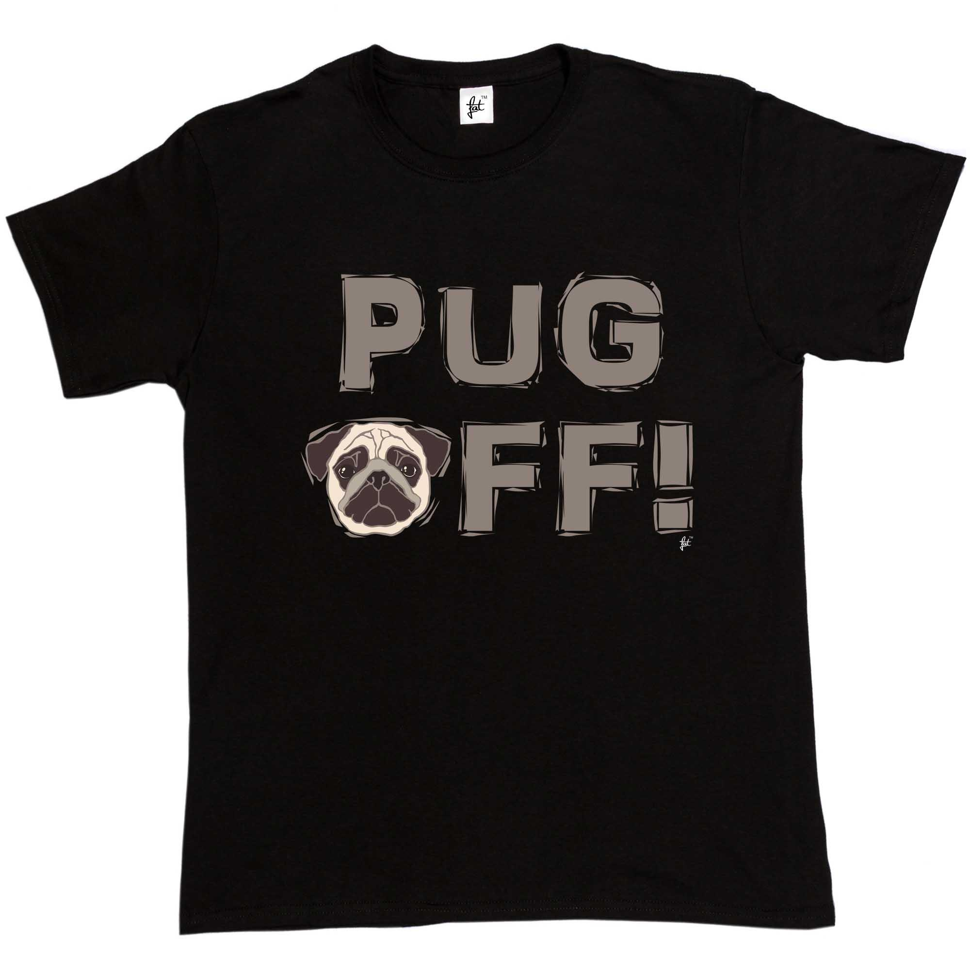 Pug Off! Dog Lover Pug Face Mens T-Shirt hoodie hip hop t-shirt jacket  croatia leather tshirt