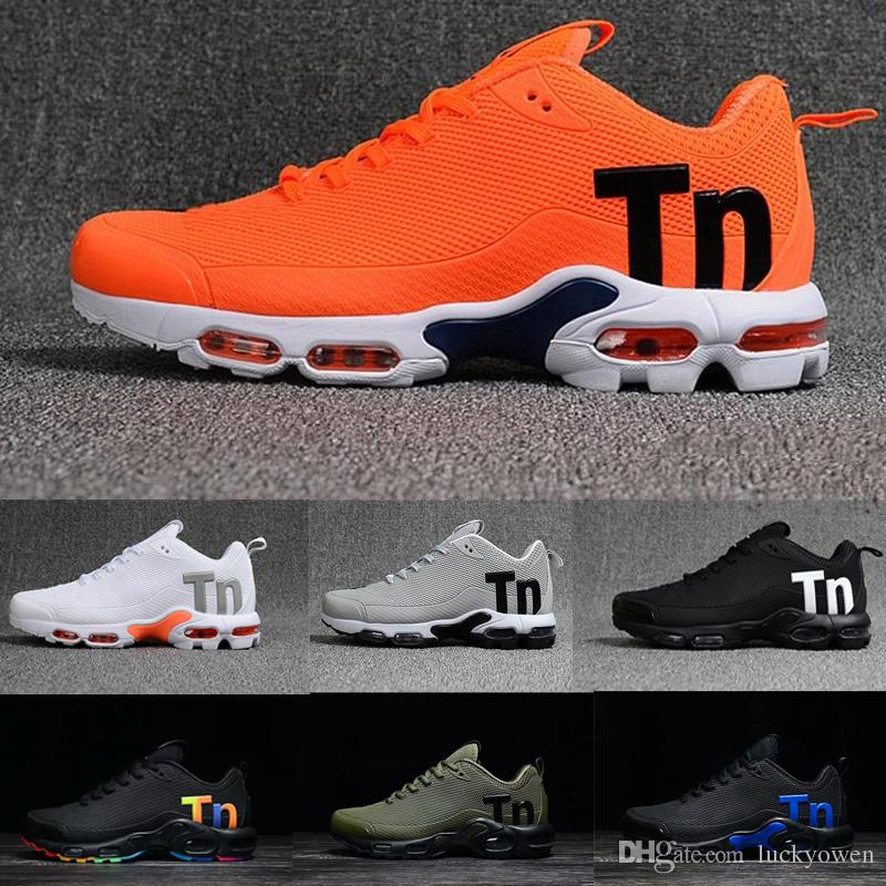 2019 Cheap Mens Mercurial Plus Tn Ultra SE Black White Rainbow Desinger Running Shoes Women MenTrainers Sports Sneakers US 7 12
