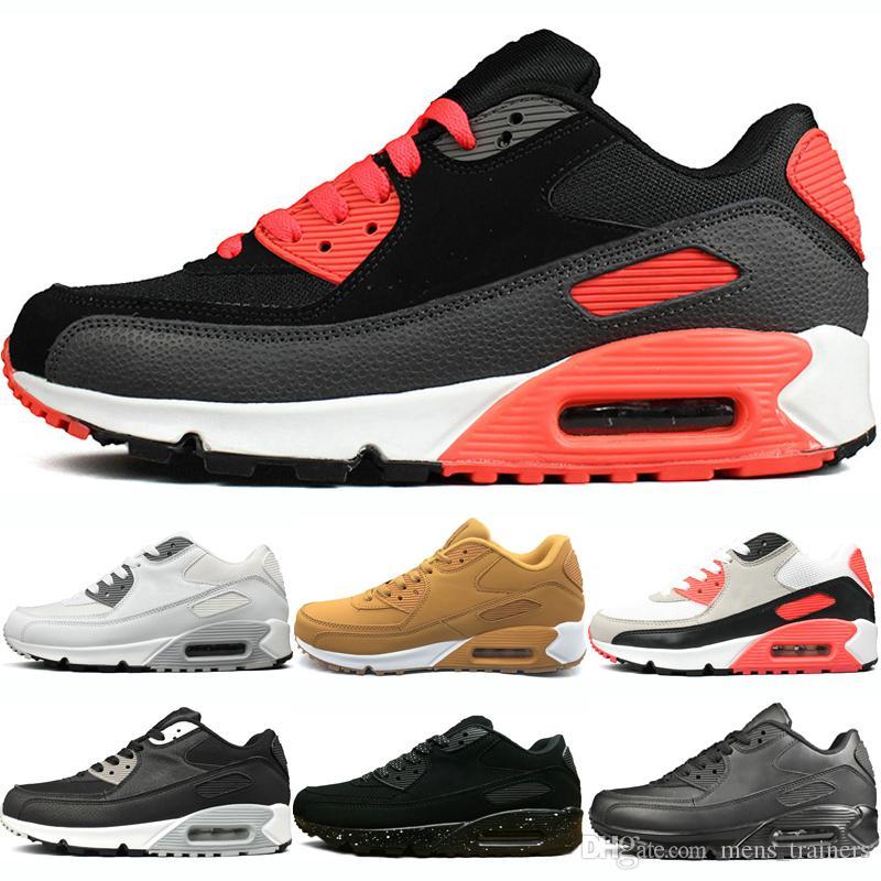 huge discount fbd04 fc68d Großhandel Nike Air Max 90 Shoes Herren 90 Klassische Laufschuhe ...