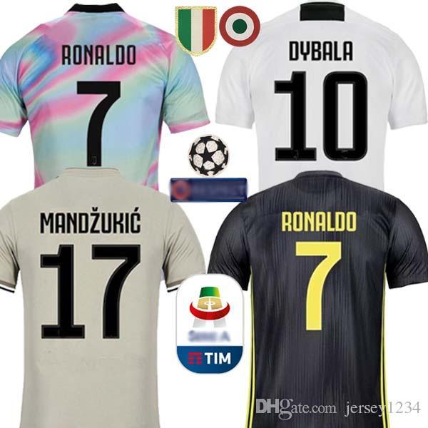 5d53be672 Compre Tailândia Adidas   EA Sports RONALDO Juventus 2019 Camisa De Futebol  DYBALA 18 19 Camisa De Futebol Kit Top Fãs Versão Do Jogador Homens  Mulheres ...