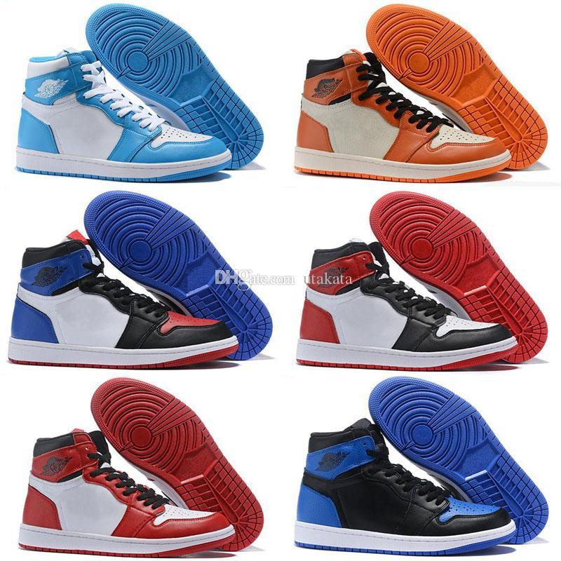 9c5e8d640b94 gold toe 1s 2019 2019 Mens Women GOLD TOE 1 OG New Love Retro Basketball  Shoes