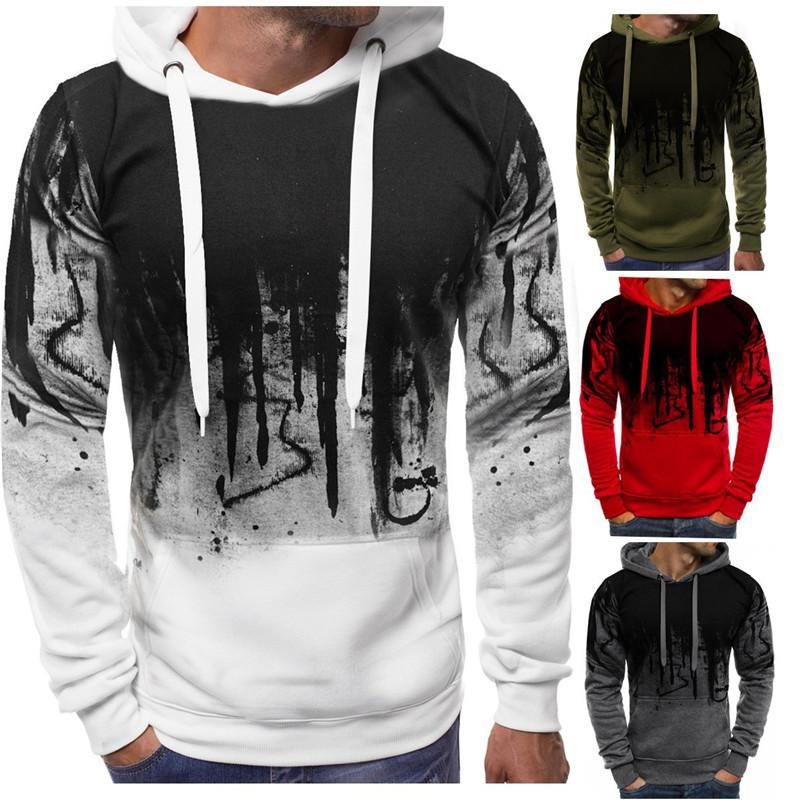 Men's Hooded Hoodies 2020 New Arrival Fashion Mens Pullover Sweater Spring Autumn Casual Long Sleeves Hoodie 4 Colors Size S-4XL