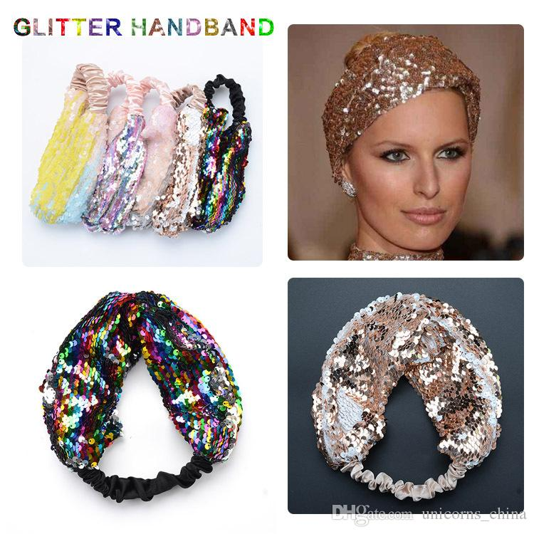 Girl's Accessories 2019 Fashion Fashion Knotted Glitter Hairband For Women Lady Wide Gold Black Stripe Headband Hair Hoop Headdress Headwrap Hair Accessories Apparel Accessories