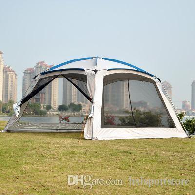 Tonnelle de jardin 4Corners / tente de camping multijoueur pour fêtes /  abri pour auvent