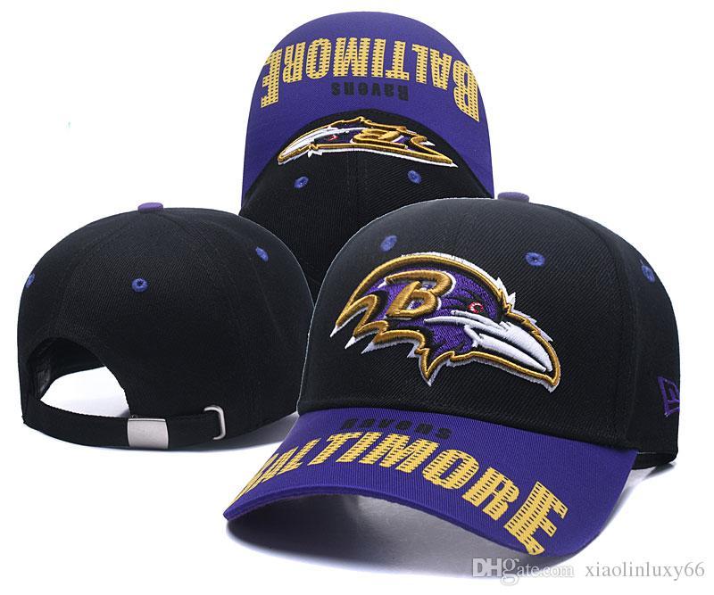 1ca72d5cf 2019 Top Quality Ravens Black Snapback Hats Embroidered Letter Team ...