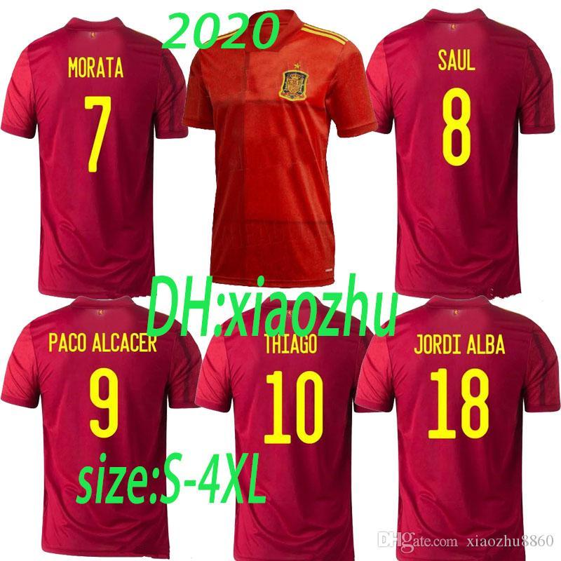 2020 2020 Spain Away Home Soccer Jerseys 2020 2021 Spain ...