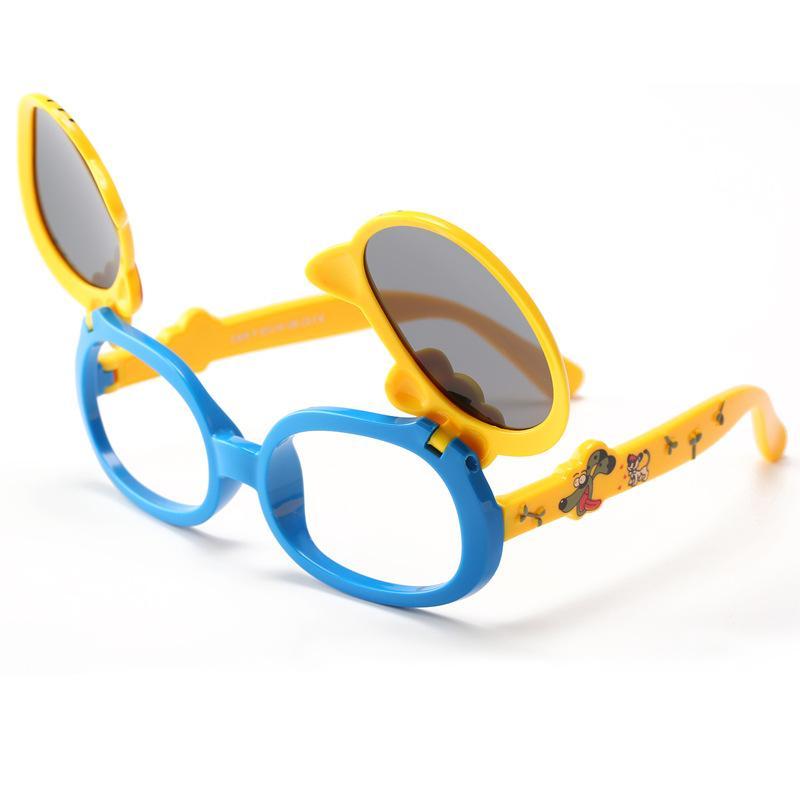 16a2bc6c460e Sunglasses for Kids Boy Goggles New Fashion Girls Flip Over Sun ...