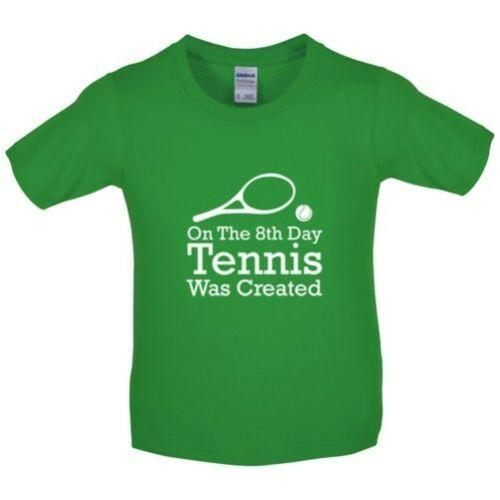 On The 8th Day Tennis Was Created - Kids / Childrens T-Shirt - Wimbledon Men Women Unisex Fashion tshirt Free Shipping