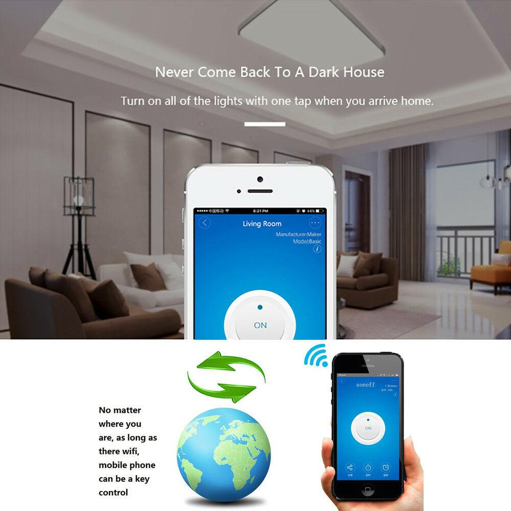 Akıllı Ev WiFi Kablosuz Anahtarı Modülü Uzaktan Kumanda Otomasyon Modülleri için IOS Android APP Kontrolü