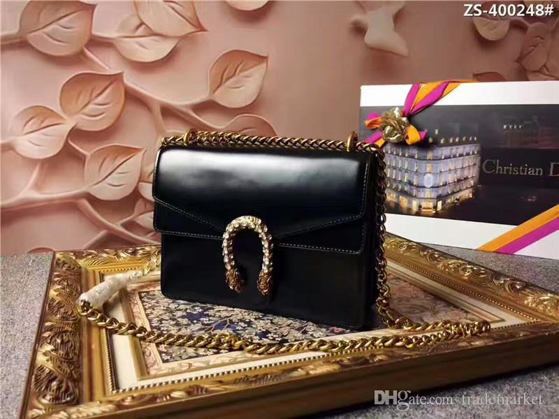 2019 New Designer Handbags snake leather embossed fashion Women bag chain Crossbody Bag Brand Designer Messenger Bag