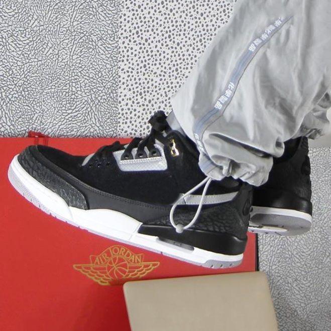 AireJordánretro3 Tinker Black Cement Zapatillas de baloncesto para hombre 3s Gris Metálico Oro 3 III hombres Zapatillas deportivas atléticas 40 47