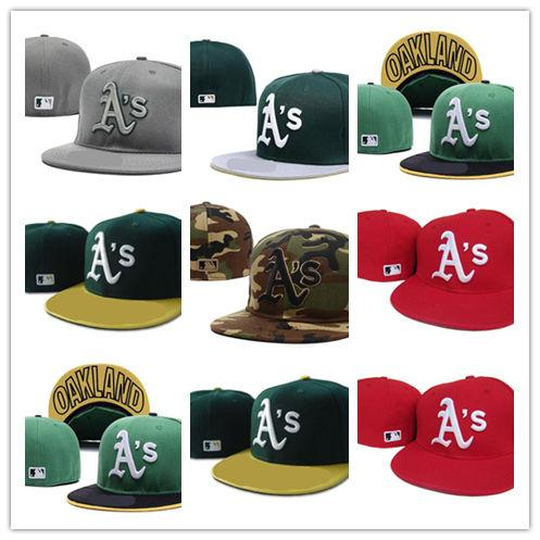 Good Sale Fitted hats sunhat Oakland hat cap Team Baseball Embroidered Team  Flat Brim Hats Baseball Size Cap Brands Sports