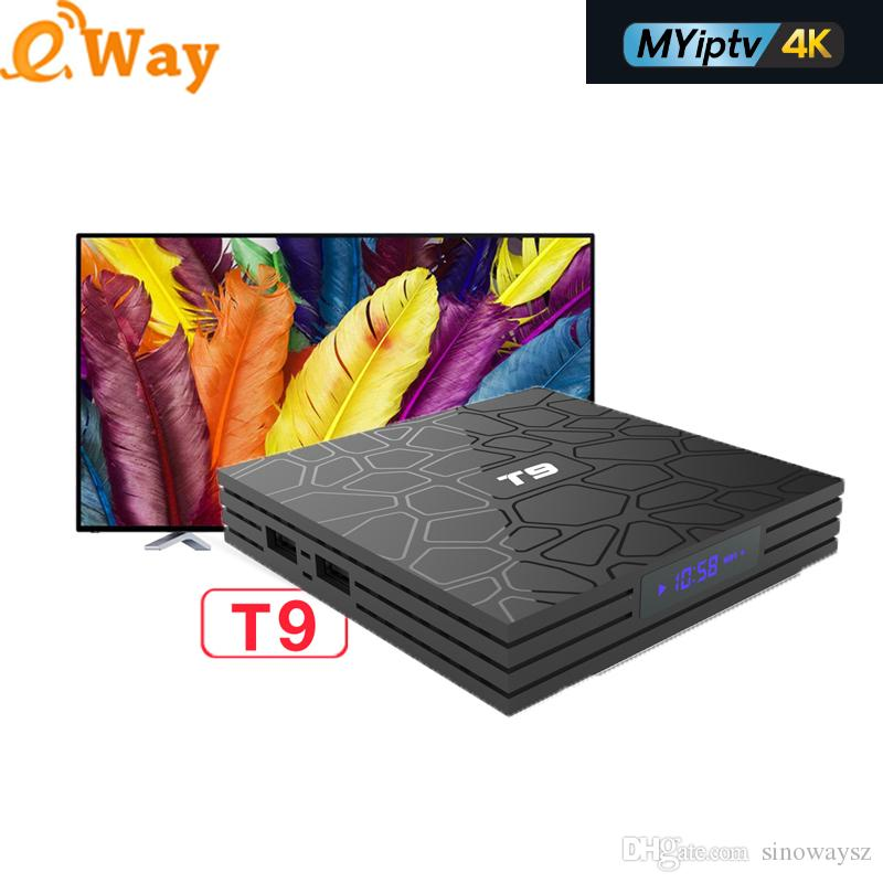 Android 8 1 box T9 4GB 32GB with MYIPTV 4K Subcription iptv Support  Malaysia Singapore iptv Indonesia Channels Southeast Asia