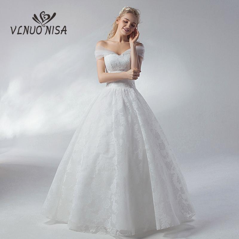compre sencillo vestido de novia de encaje blanco vlnuo nisa