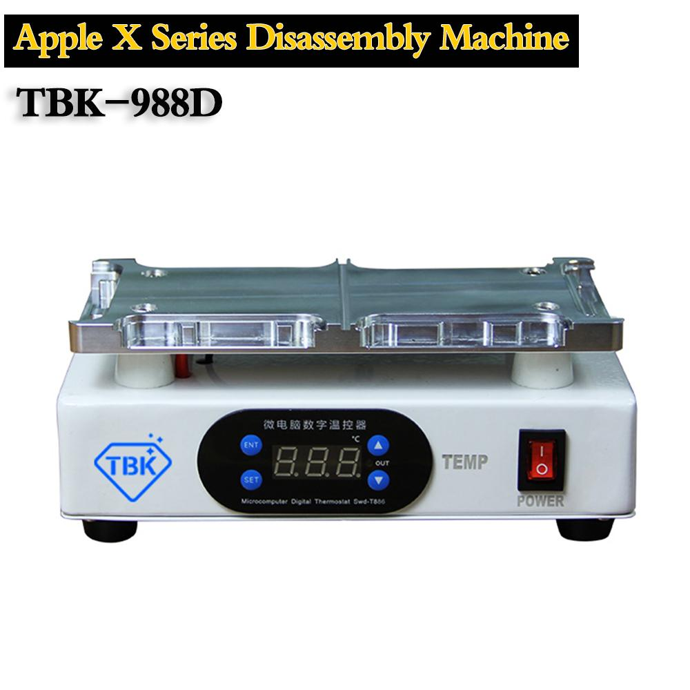 TBK-988D LCD screen separator for iPhone XR/XS MAX/XS/X lcd frame heating separate no need mold Frame removing machine