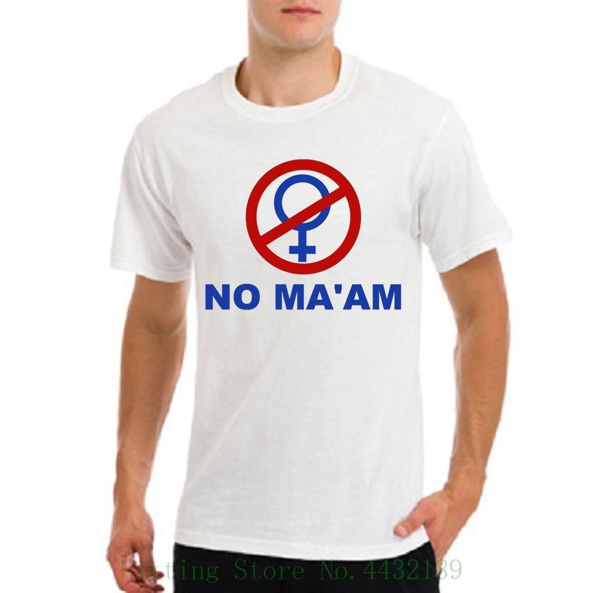 bce84068b Married With Children Al Bundy No Maam Ma'am Logo Funny White T Shirt  Harajuku Cool Tshirt Homme