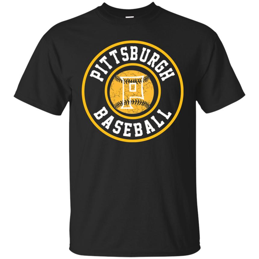 Pittsburgh Baseball Burgh Pride Pirate Badge Black T-Shirt S-2Xl Top Christmas Giftstee Shirt