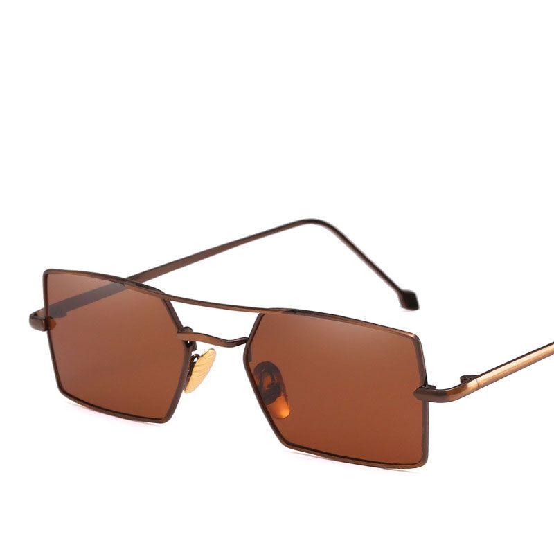 Compre Mulheres De Metal Óculos De Sol Dos Homens Retro Pequeno Quadrado  Mens Óculos De Sol Feminino Amarelo Rosa Lente Óculos De Armação De Óculos  De ... 97b831f9f0