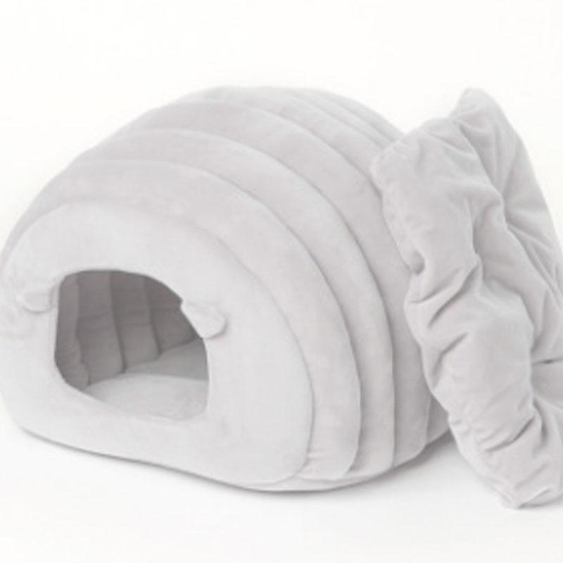 2018 New Autumn Winter Warm Japanese Semi-closed Cat House Pure Color  Exquisite Non-defrmation Pet Bed