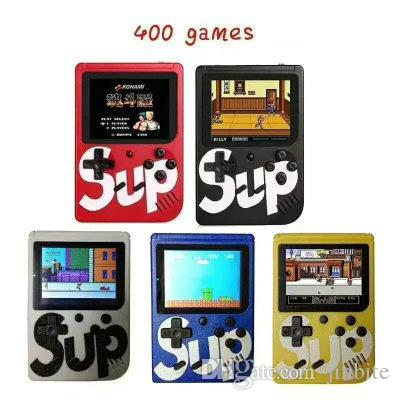 SUP Mini portable Console de jeux Sup plus Nostalgique Game Player Portable 8 Bit 400 1 Jeux FC Écran LCD couleur Game Player