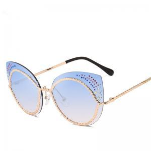 f3f0f23507 Diamond Metal Cat Eye Sunglasses Women Metal Frame Glasses Vintage Fancy  Sunglasses Steampunk Oversized Mirror LLA253 Prescription Glasses Sunglass  From ...
