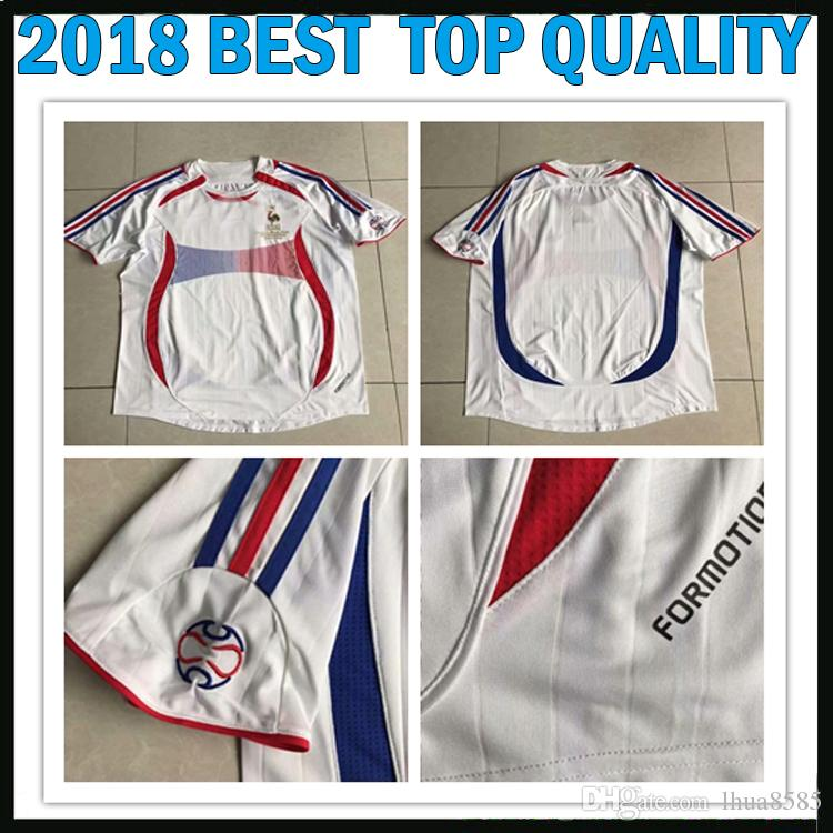 7ebf4ebb4 ... official 2019 2006 france retro soccer jersey zidane 10 henry 12 football  shirts top thai quality
