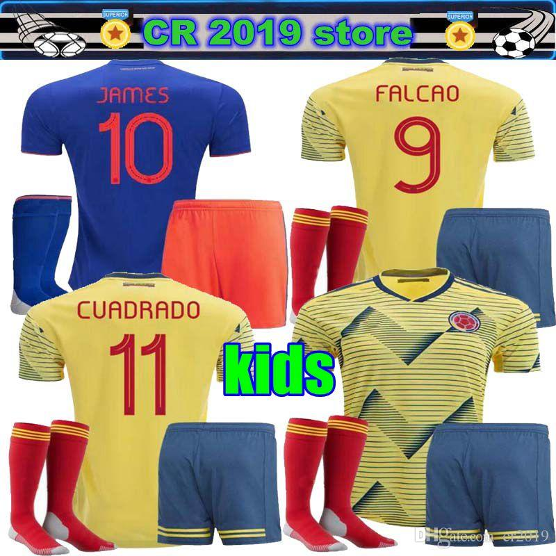 30ece10c16d Kit Infantil 2019 Colombia Copa América Camiseta De Fútbol Local ...
