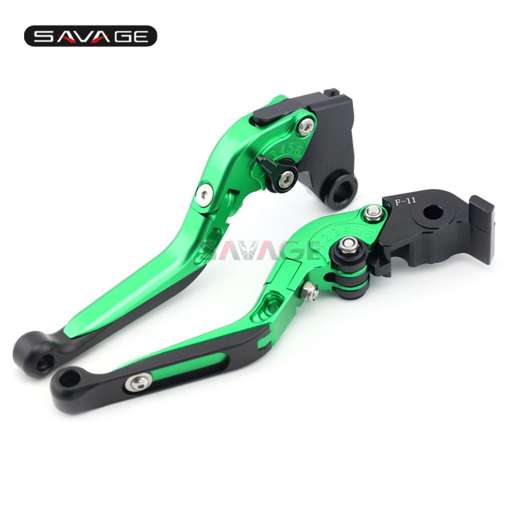 Brake Clutch Lever For KAWASAKI ZX10R ZX-10R NINJA 2016-2017 Green Motorcycle Accessories Adjustable Folding Extendable