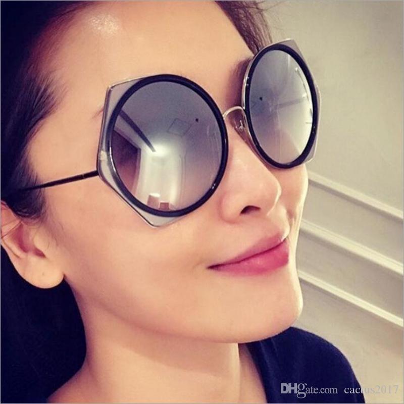 069a90e8e2 Compre Gafas De Sol De Ojo De Gato De Moda Polígonos De Marca De Diseñador  Para Mujeres Gafas De Sol De Gran Tamaño De Lujo Gafas De Sol A $11.77 Del  ...