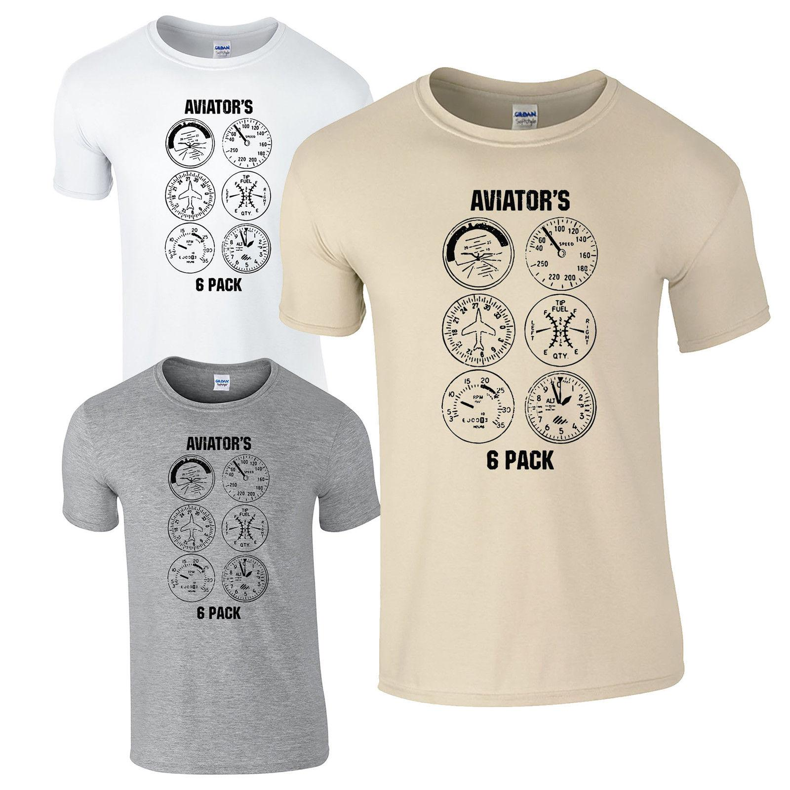 a2de7ec57 Aviator's Six Pack T-Shirt - Aeroplane Aircraft Plane Dials Pilot Gift Mens  Top Funny free shipping Unisex Casual Tshirt. Store-wide Discount