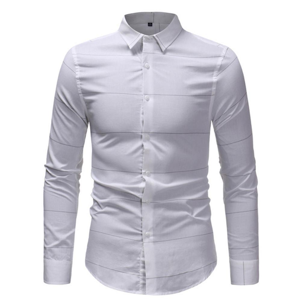 2019 Office Wear Casual Striped Shirts Hot Sale 2018 Autumn Men
