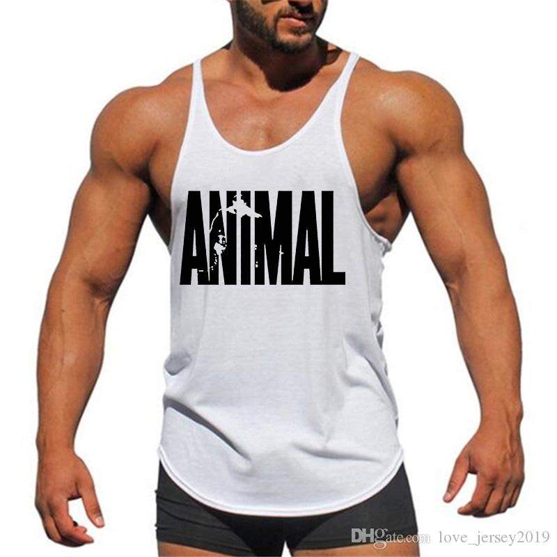 69a663e6eab0f 2019 Brand Fitness Animal Gyms Tank Top Men Clothing Bodybuilding Stringer  Men Sportwear Shirt Muscle Vests Cotton Singlets Tops  271702 From ...