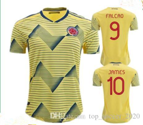 low priced 7b8aa 689bf 2019 2020 Colombia soccer jerseys cop america colombia football shirt JAMES  Camiseta de futbol FALCAO CUADRADO maillot de foot soccer shirt
