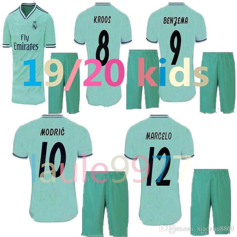 0d0e24066 2019 2019 2020 New Real Madrid Kids Kit Soccer Jerseys 19 20 Home White Away  3RD 4TH Boy Child Youth Modric ISCO BALE KROOS Football Shirts From  Xiaozhu8860 ...