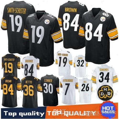 73a9b4022 Mens Pittsburgh 36 Jerome Bettis Jersey Steelers 19 Smith-Schuster ...