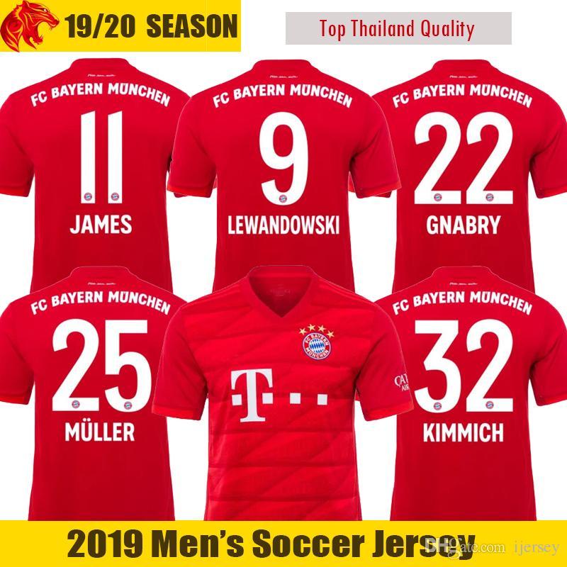 52da8d774f4c6 Compre 19 20 Bayern Munich Camisas De Futebol KIMMICH 2019 2020 ...