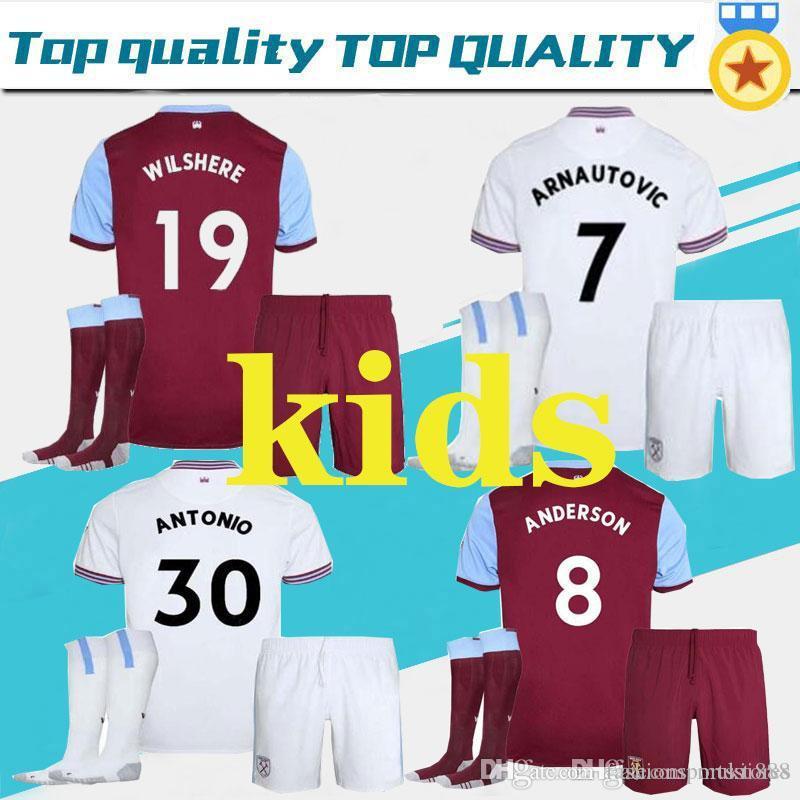 best service 6c686 d7161 Adult and kids 19 20 West Ham soccer jerseys United 2019 2020 home away  DiopWILSHERE #17 Chicharito #10 LANZINI #7 ARNAUTOVIC football shirt