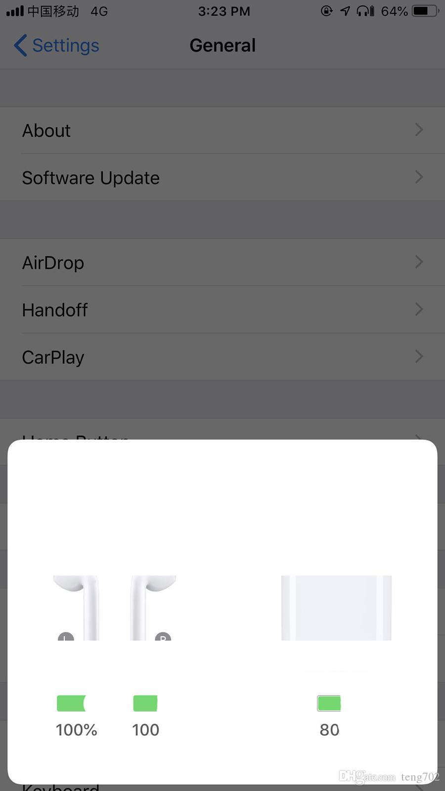Nuevo W1 H1 CHIP Animation Earphones air Auriculares pods Stereo Earbuds ear para iphone xs max 8 Android Phone casque Bluetooth Earphone buds