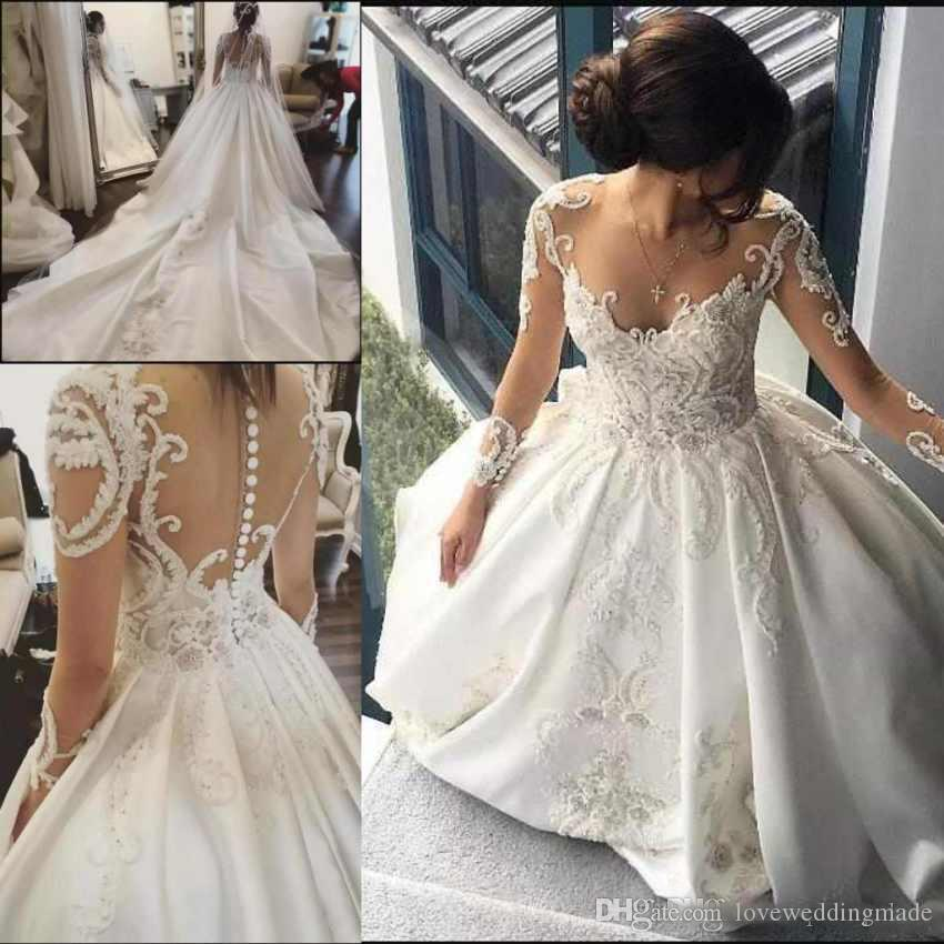 Cheap Wedding Dress Detachable Royal Train Discount Wedding Dress Sweetheart  Neckline Feathers 7beda9100bb6
