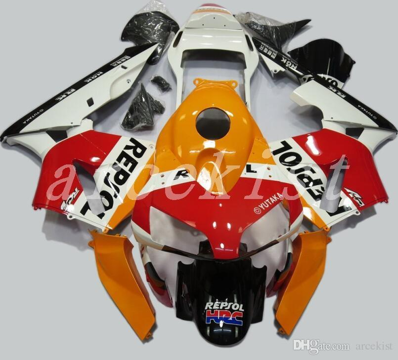 3Gifts New Injection Full fairing kit Fit for Honda CBR600RR 03 04 ABS plastic fairings set CBR 600RR F5 2003 2004 repsol hot sales
