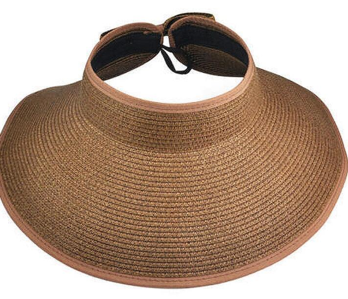 Compre T Best PrWomens Summer Foldable Beach Sun Visor Sombrero De Ala  Ancha Sombrero Café A  21.66 Del Duodeis  7bba670f7a7
