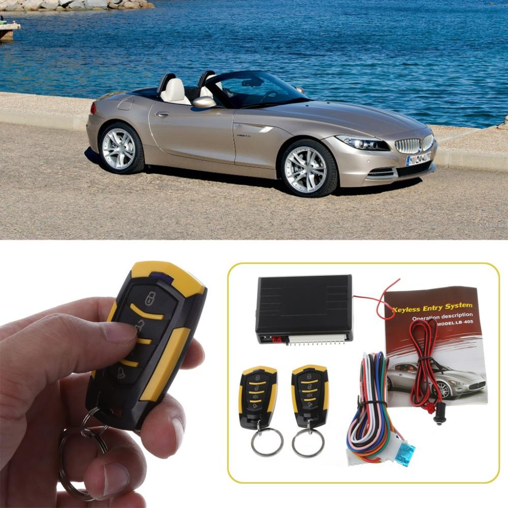 Universal 1 Set DC 12V Car Auto Alarm Remote Central Door Locking Vehicle Keyless Entry System Kit