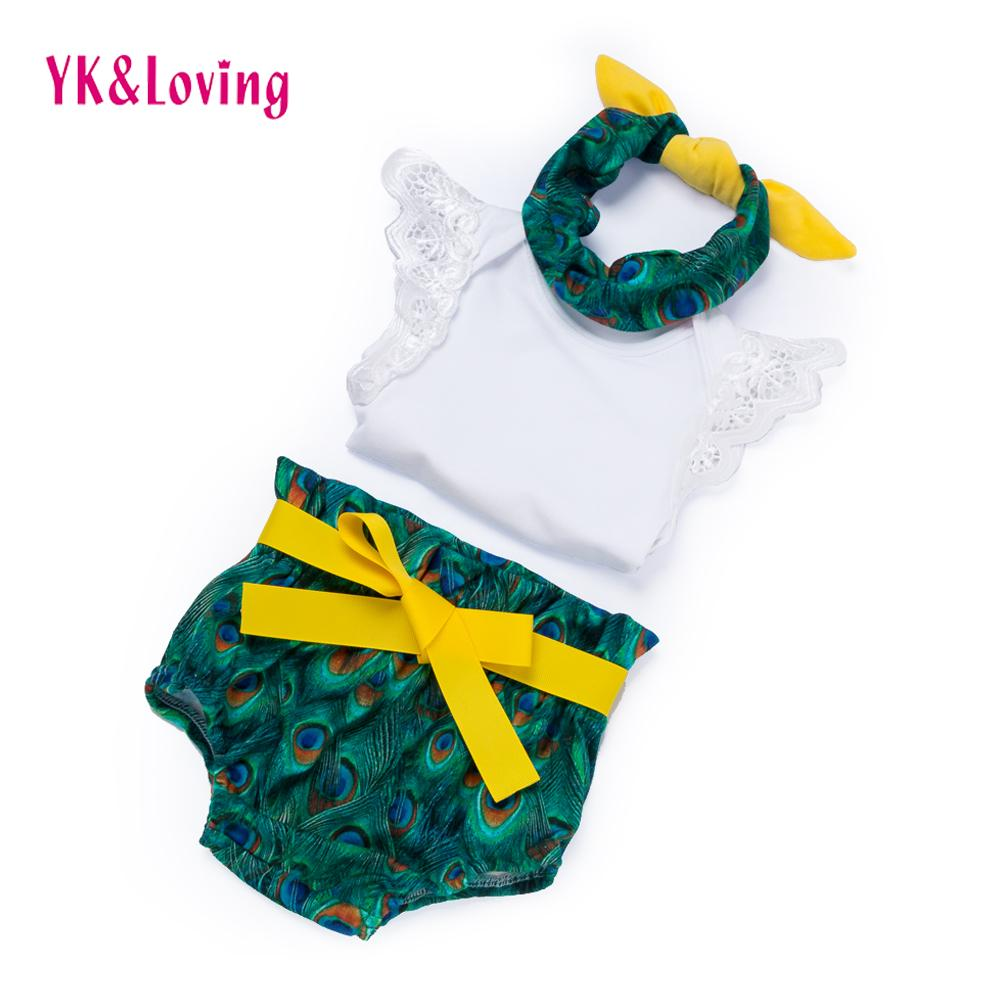 PeacockRomper Bloomer Baby Clothing Sets Girls 0 2 Years Birthday Gift Outfits Kids Cute Girl Clothes Y18120801 UK 2019 From Shenping02