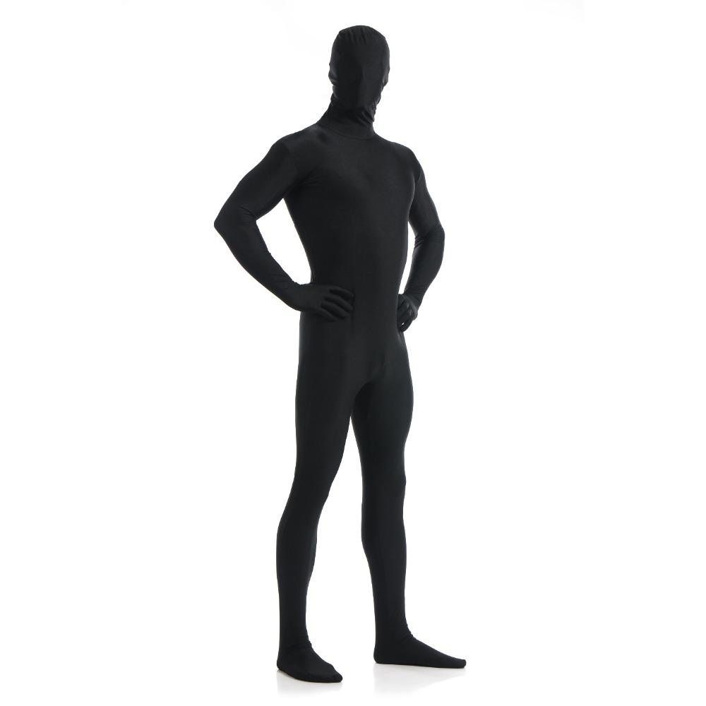 Speerise Adult Lycra Spandex Nylon Eyes Open Black Zentai Suit Men One Piece Second Skin Tights Full Body Zentai Custom Costumes