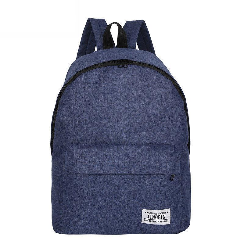 2019 New Solid Color Knapsack Ladies Canvas Backpack Student College Bag  Girls Rucksak Casual Travel Bag School Bag Camera Backpack Back Packs From  ... e2ec19ad9dd6d
