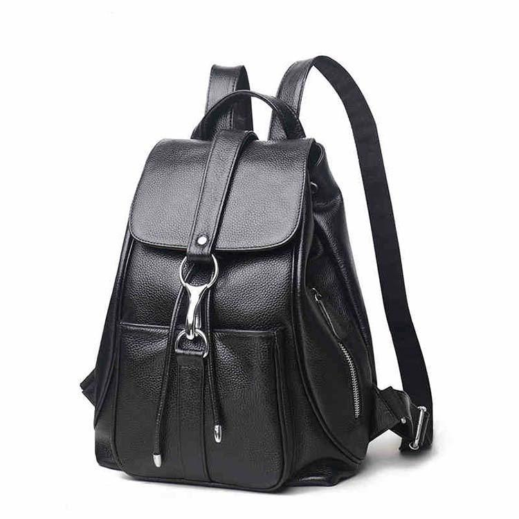Individual2019 Ma'am Cowhide Both Shoulders Soft Backpack Genuine Leather Woman Package Bale