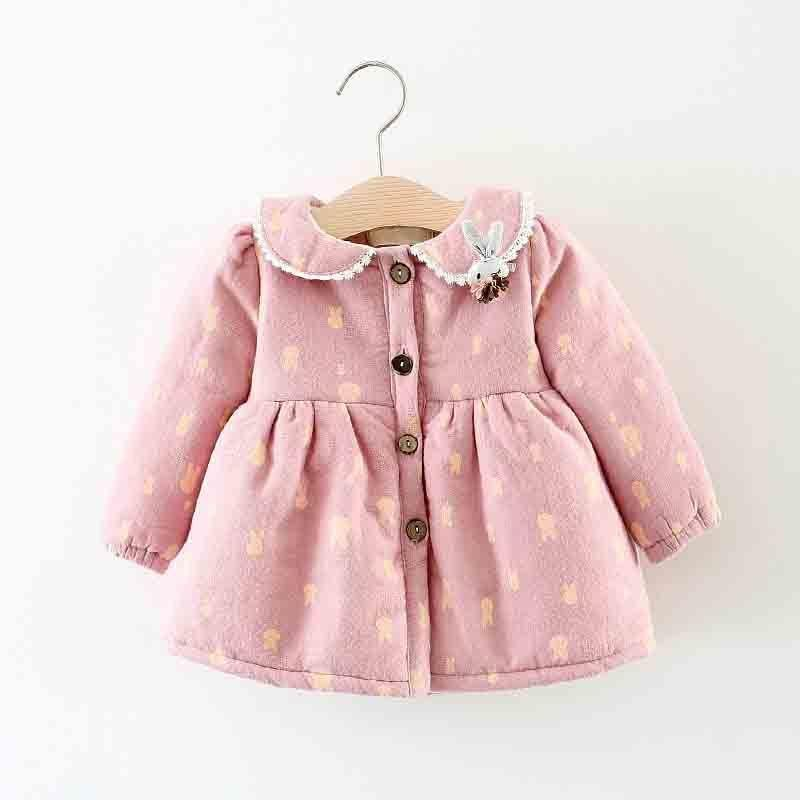 493d99b41 Good Quality Newborn Girls Winter Jacket Infant Fashion Print Cotton ...