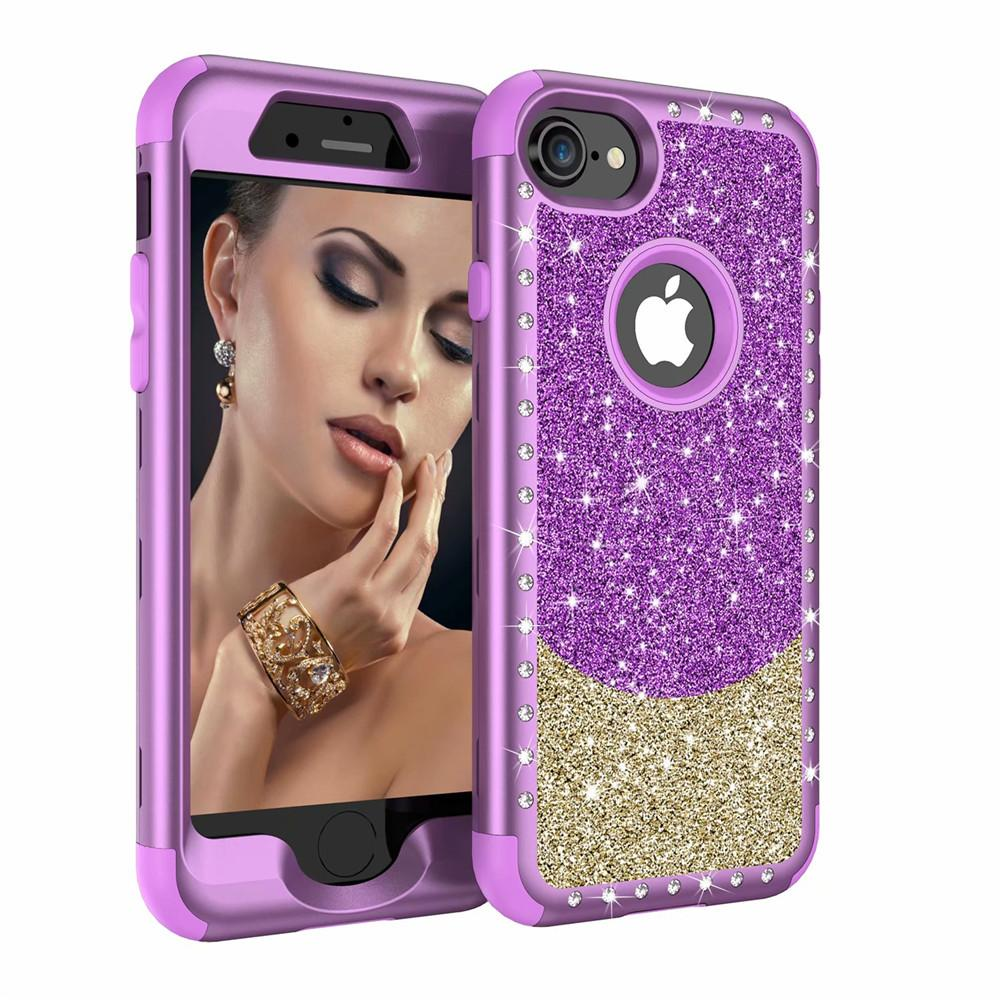 For Iphone 8plus Case Luxury Diamond Women Cover Heavy Duty Hybrid  Full-Body Protective Cover Defender Case For iPhone 8 8plus 216082c21